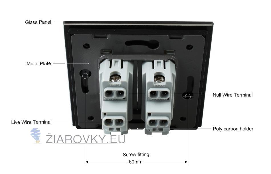 Luxusné mechanické vypínače v bielom alebo čiernom prevedení s lesklou sklenenou dotykovou plochou