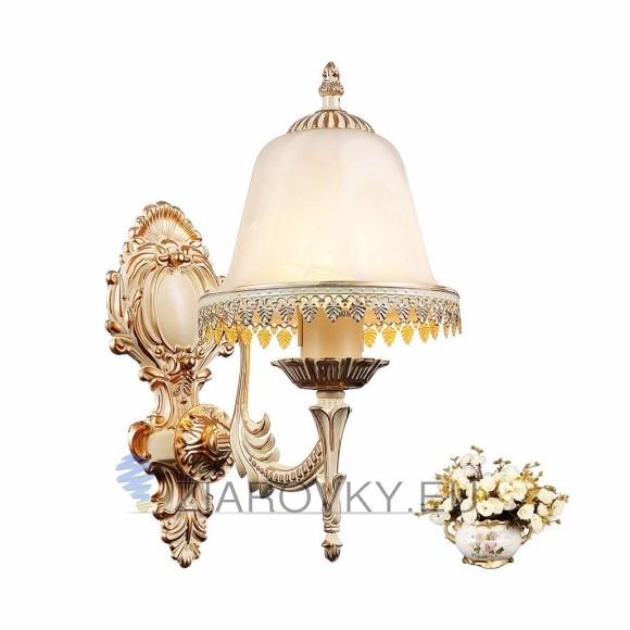 Luxusné nástenné svietidlo Medúza s ručnou maľbou