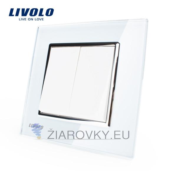 Luxusný lustrový vypínač č.5 v bielom prevedení