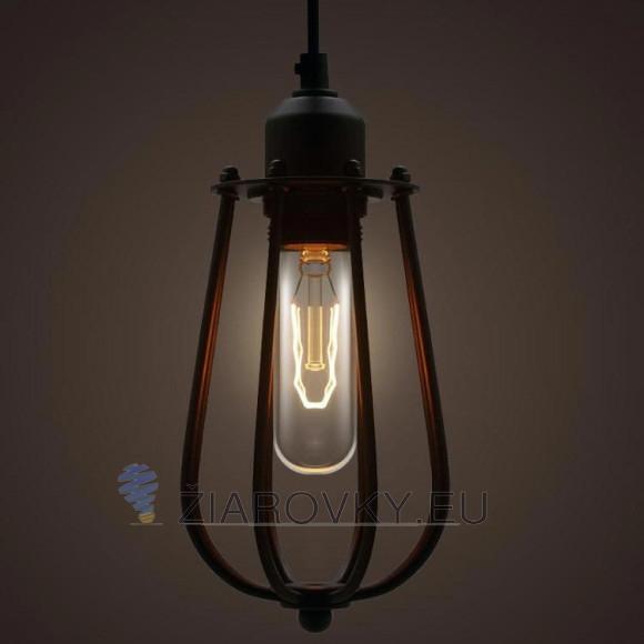 Priemyselný vzhľad a ocelová klietka určená pre ochranu žiarovky