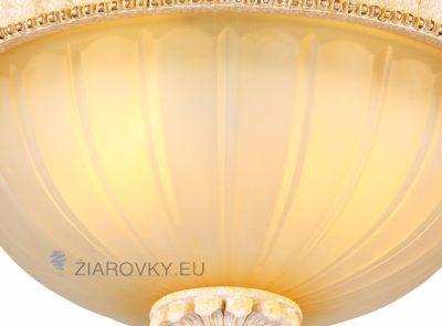 Luxusné stropné svietidlo Dvojitý Tanier s ručnou maľbou (7)