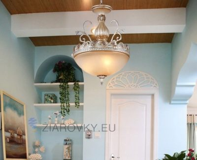 Luxusné závesné svietidlo Šíp s ručnou maľbou (8)