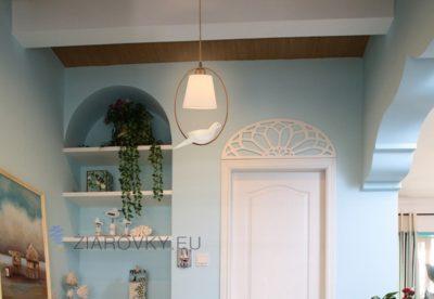 Luxusné závesné svietidlo Holub s ručnou maľbou (4)