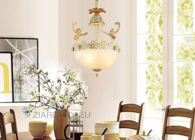 Luxusné závesné svietidlo Medúza s ručnou maľbou (10)