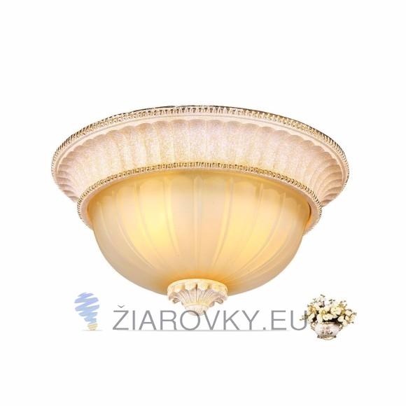 Luxusné stropné svietidlo Dvojitý Tanier s ručnou maľbou (5)
