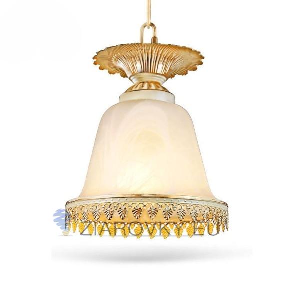 Luxusné závesné svietidlo Pohár s ručnou maľbou