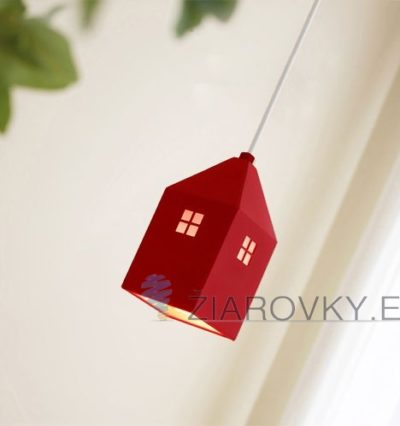 Detské závesné svietidlo v štýle mini domčeka. Detské závesné svietidlo ponúka kreatívny dizajn v štýle mini domčeka.