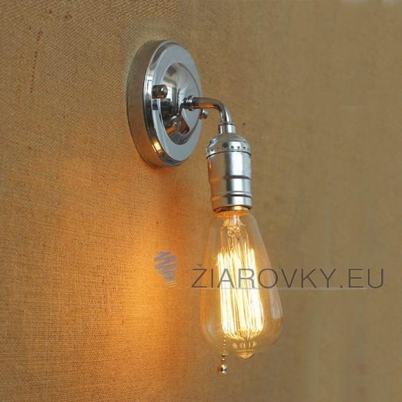 Historické nástenné svietidlo v striebornej farbe 580x580 AKCIE !