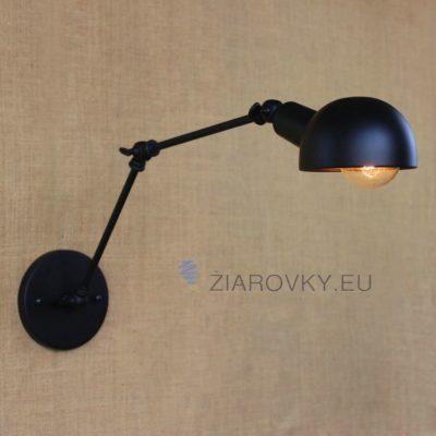 Svietidlo je bronzovo zlatej farby a pripomína starodávnu stolovú lampu s nastaviteľným ramenom