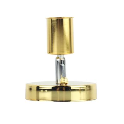 Jednoduché stropné svietidlo v modernom štýle - 180° rotácia, zlatá farba (1)