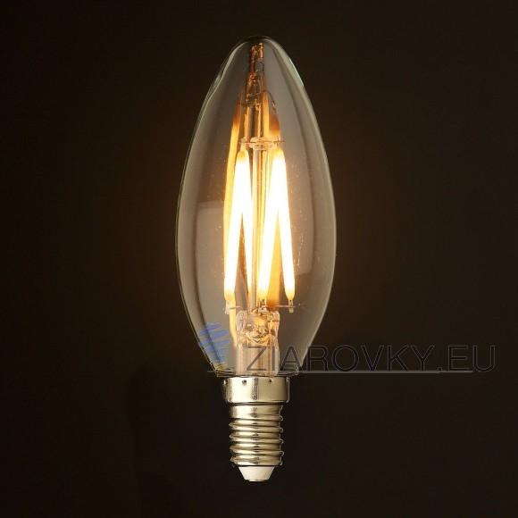 FILAMENT žiarovka CANDLE E14 Teplá biela 2W 280lm 3 580x580 AKCIE !