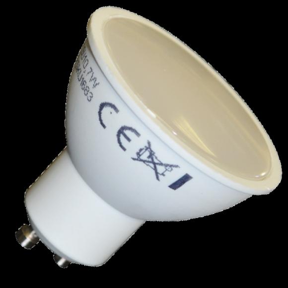 LED žiarovka GU10 7W teplá biela 500lm 580x580 AKCIE !