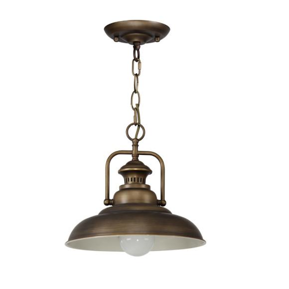 Historické závesné svietidlo Personal v bronzovej farbe4