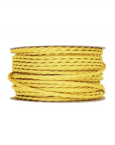 Kábel-dvojžilový-skrútený-v-podobe-textilnej-šnúry-v-žltej-farbe-2-x-0.75mm-1-meter-1
