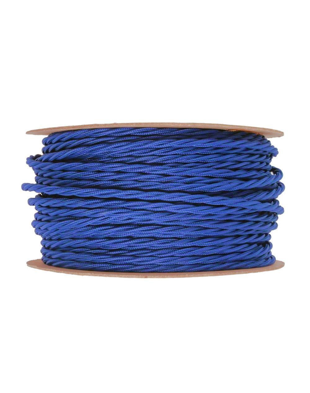 Kábel dvojžilový skrútený v podobe textilnej šnúry v tmavo modrej farbe, 2 x 0.75mm, 1 meter (1)