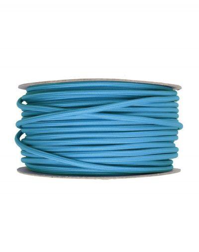 Kábel dvojžilový v podobe textilnej šnúry v azúrovej farbe, 2 x 0.75mm, 1 meter