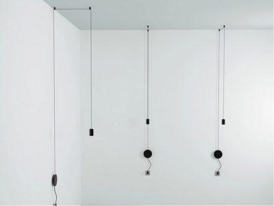 Moderný dizajnový luster, svietidlo na stenu s LED žiarovkou1