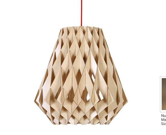 Originálne závesné drevené svietidlo z kolekcie iWood DIAMANT 580x470 AKCIE !