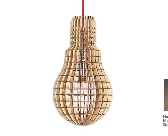 Originálne závesné drevené svietidlo z kolekcie iWood - LIGHT