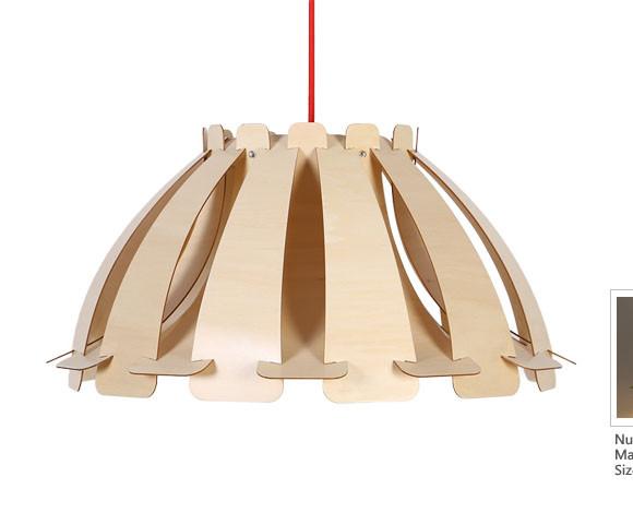 Originálne závesné drevené svietidlo z kolekcie iWood - SKIRT