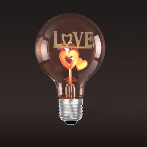 Dekoračná žiarovka - SHINES - Love