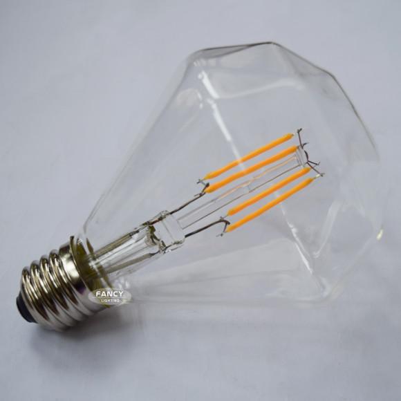 FILAMENT žiarovka DIAMOND E27 Teplá biela 4W 350lm 580x580 AKCIE !