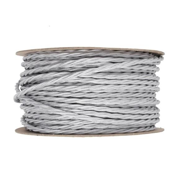 Kábel-dvojžilový-skrútený-v-podobe-textilnej-šnúry-v-šedej-farbe-2-x-0.75mm-1-meter
