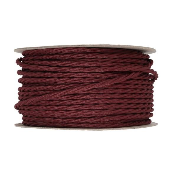 Kábel-dvojžilový-skrútený-v-podobe-textilnej-šnúry-v-tmavo-červenej-farbe-2-x-0.75mm-1-meter-1