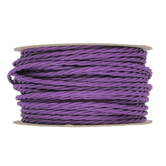 Kábel-dvojžilový-skrútený-v-podobe-textilnej-šnúry-v-tmavo-ružovej-2-x-0.75mm-1-meter