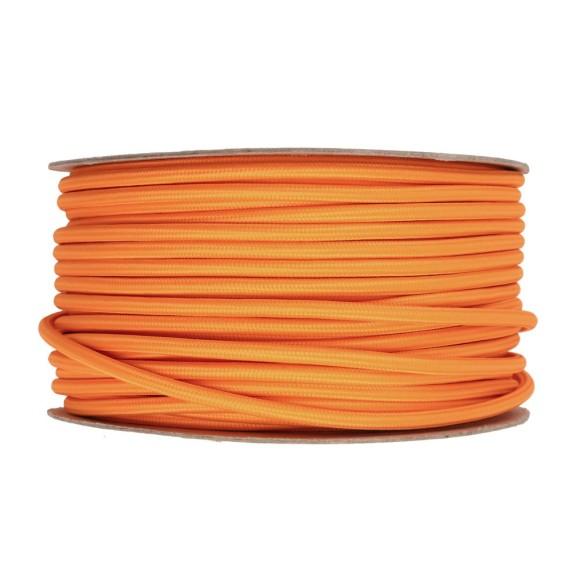 Kábel-dvojžilový-v-podobe-textilnej-šnúry-v-pomarančovej-farbe-2-x-0.75mm-1-meter