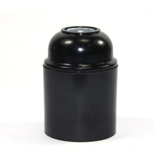 Lakovaná bakelitová objímka E26 • čierna 1 AKCIE !