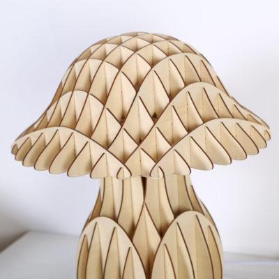 Originálne stolové drevené svietidlo z kolekcie iWood - MUSHROOM1