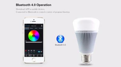 RGB LED žiarovka s bezdrôtovým reproduktorom, 8W, 550lm29