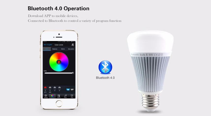 526732953 RGB LED žiarovka s efektami, 8W, 550lm. Intenzitu svetla