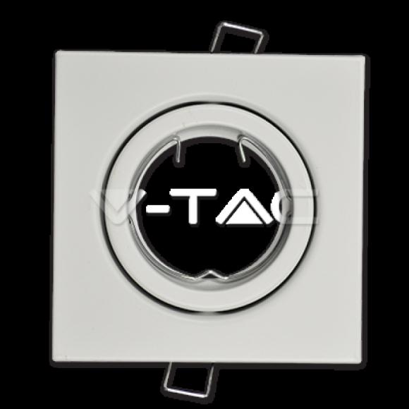 Rámik hranatý výklopný biely, V-TAC