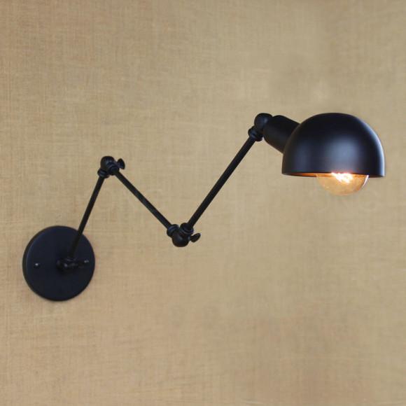 Retro nástenné svietidlo LongArm s nastaviteľným ramenom3