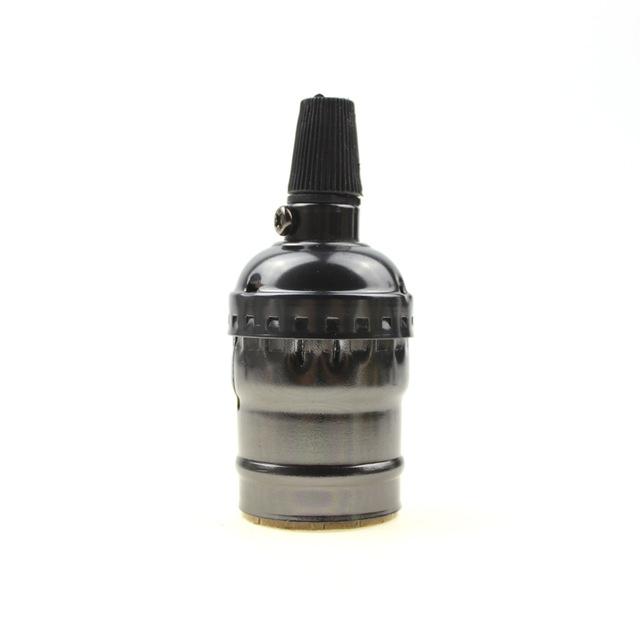 Retro objímka E27 • hliník • čierna