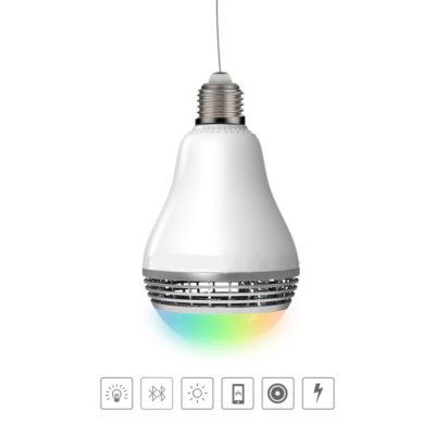 Smart LED žiarovka s výkonným reproduktorom a efektami (5)