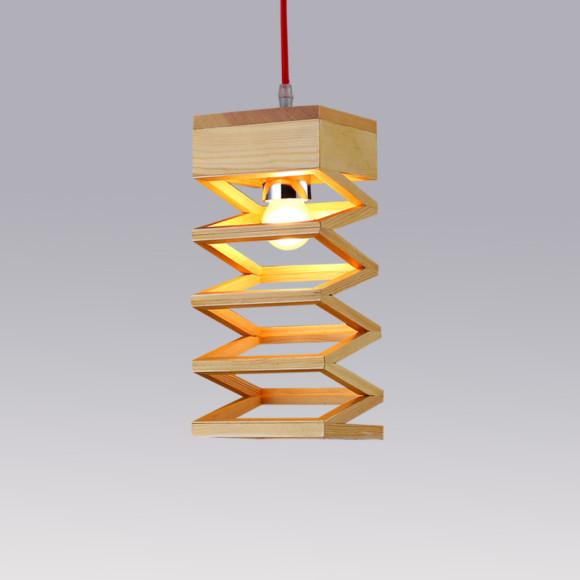 Závesné kreatívne drevené svietidlo - LAMPARA4