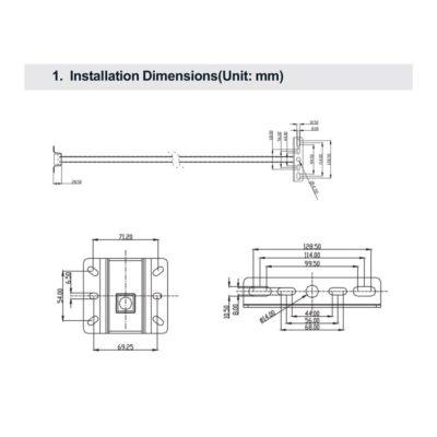 Konzola na reflektor 85cm15cm, V-TAC.Konzola pre reflektory s výkonom 10W - 50W (1)