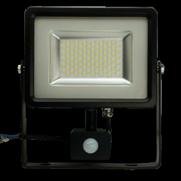 LED reflektor so senzorom 50W Premium 4000lm Studená biela 580x580 AKCIE !
