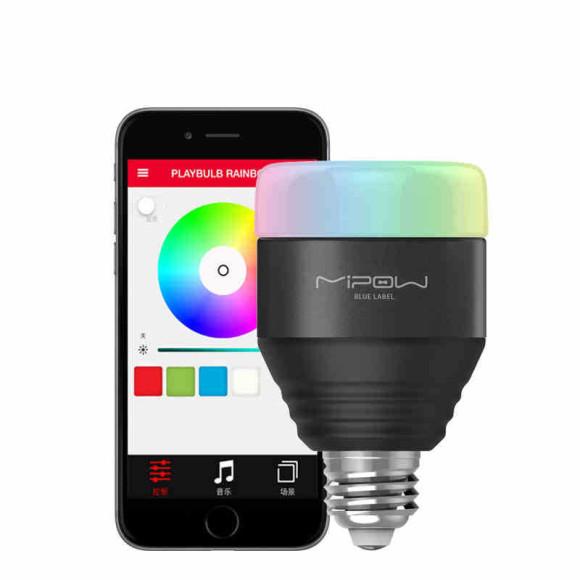 MiPow Playbulb™ Smart LED Bluetooth žiarovka – čierna3 580x580 AKCIE !
