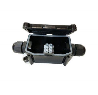 Vodeodolná spojka na kábel, V-TAC. Vodotesná skrinka so svorkovnicou čierna (2)