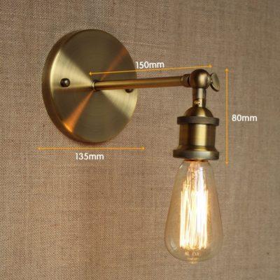 Historické nástenné svietidlo na žiarovky typu E27 v bronzovej farbe1