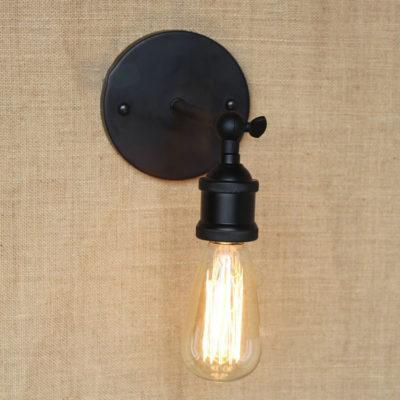 Historické nástenné svietidlo na žiarovky typu E27 v čiernej farbe3