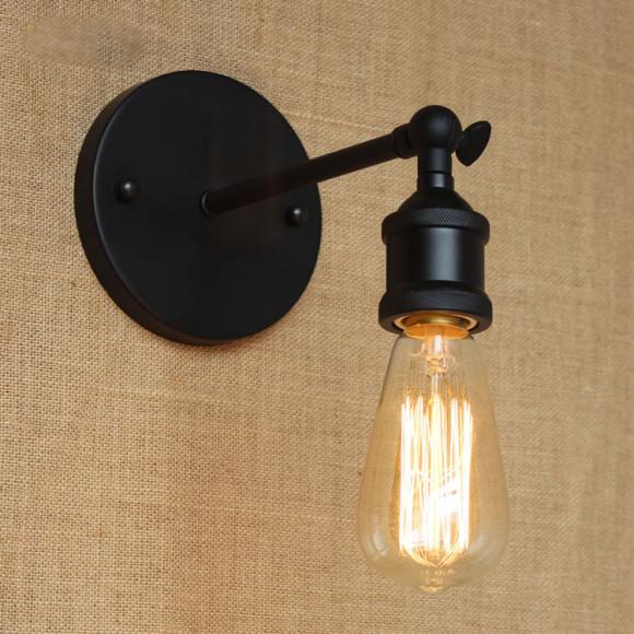 Historické nástenné svietidlo na žiarovky typu E27 v čiernej farbe1 580x580 AKCIE !
