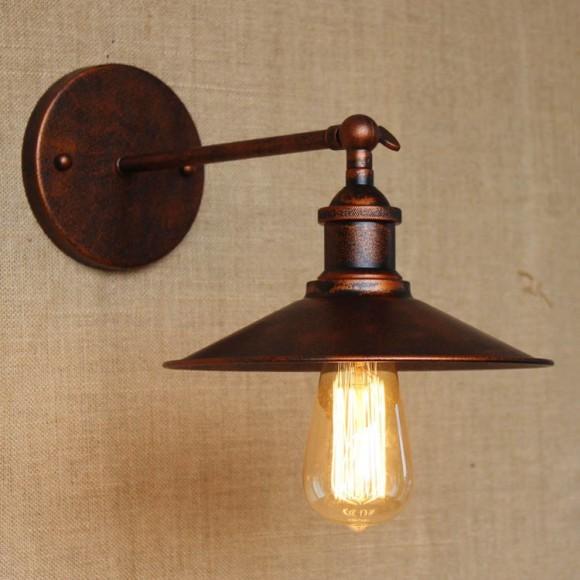 Historické nástenné svietidlo s tienidlom v medenej farbe6 580x580 AKCIE !