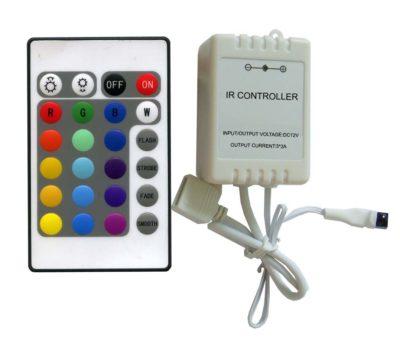 LED RGB ovládač, 24 funkcií + IR prijímač (1)