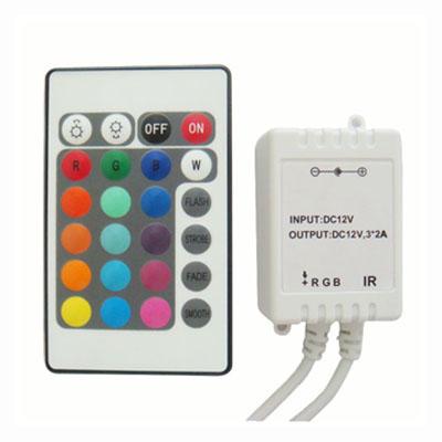 LED RGB ovládač, 24 funkcií + IR prijímač (2)