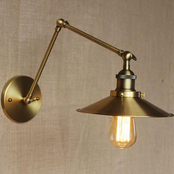 Historická nástenná lampa Alton v zlatej farbe 2 AKCIE !